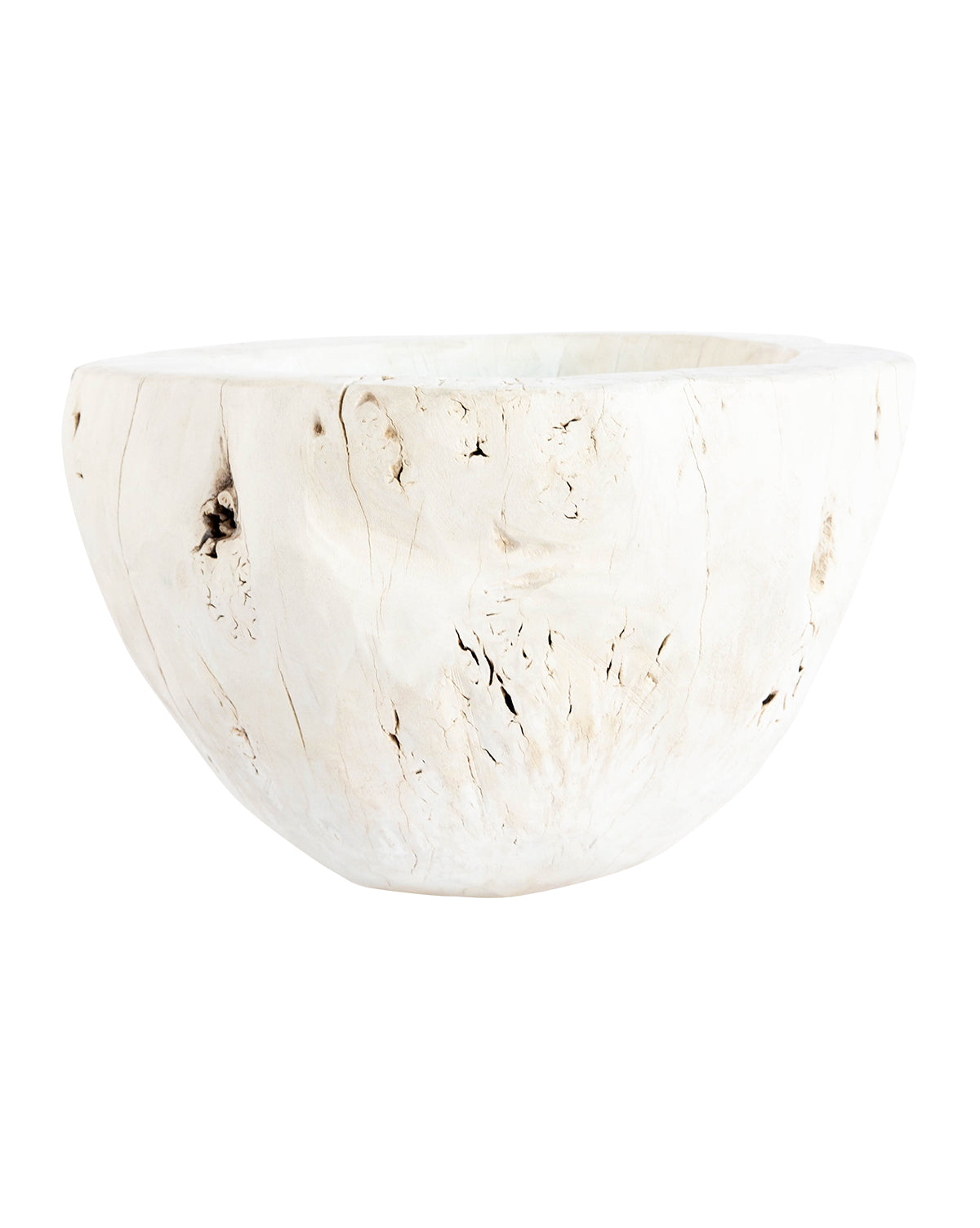 Bleached Wood Bowl