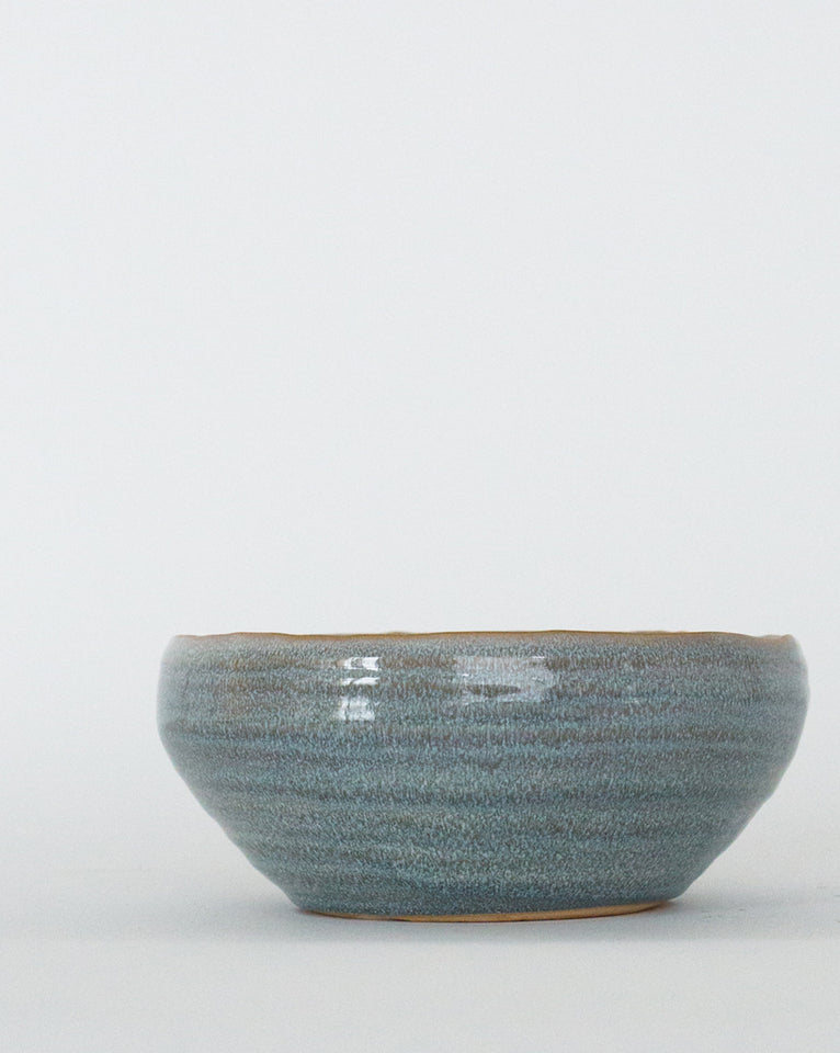 Blue Glazed Stoneware Bowl