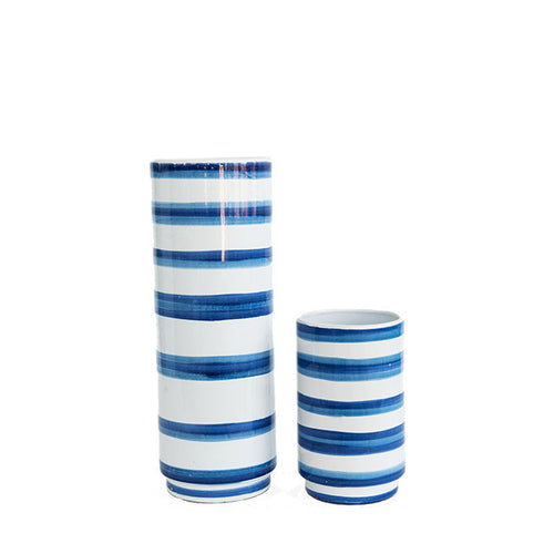 Striped Ceramic Vase