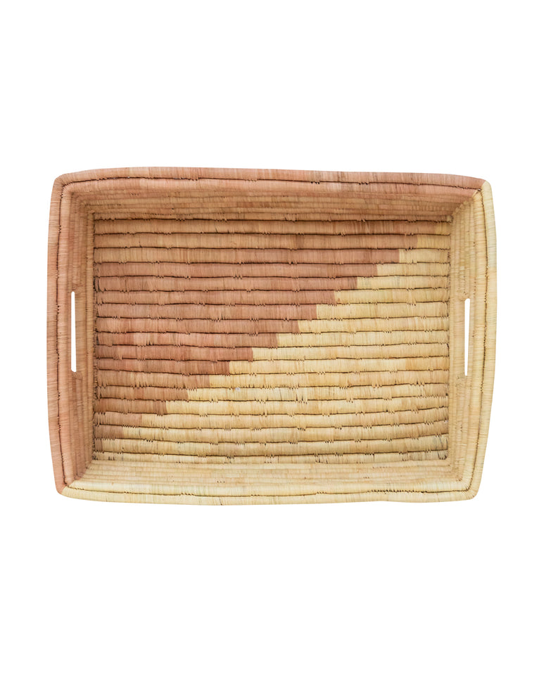Blush & Natural Raffia Tray