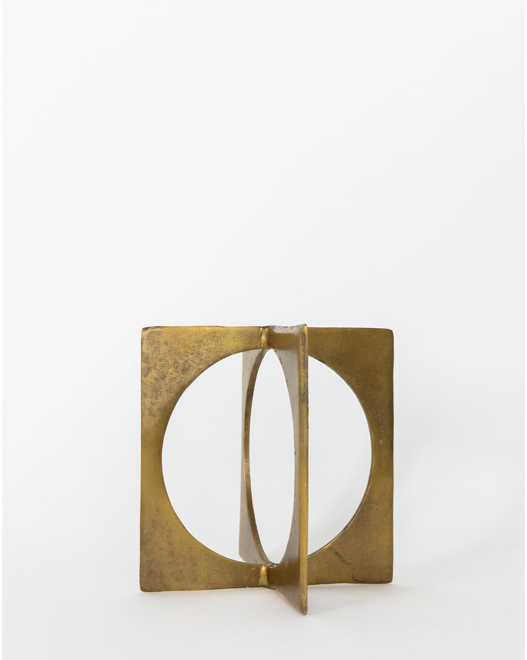 Brass Circle in Square
