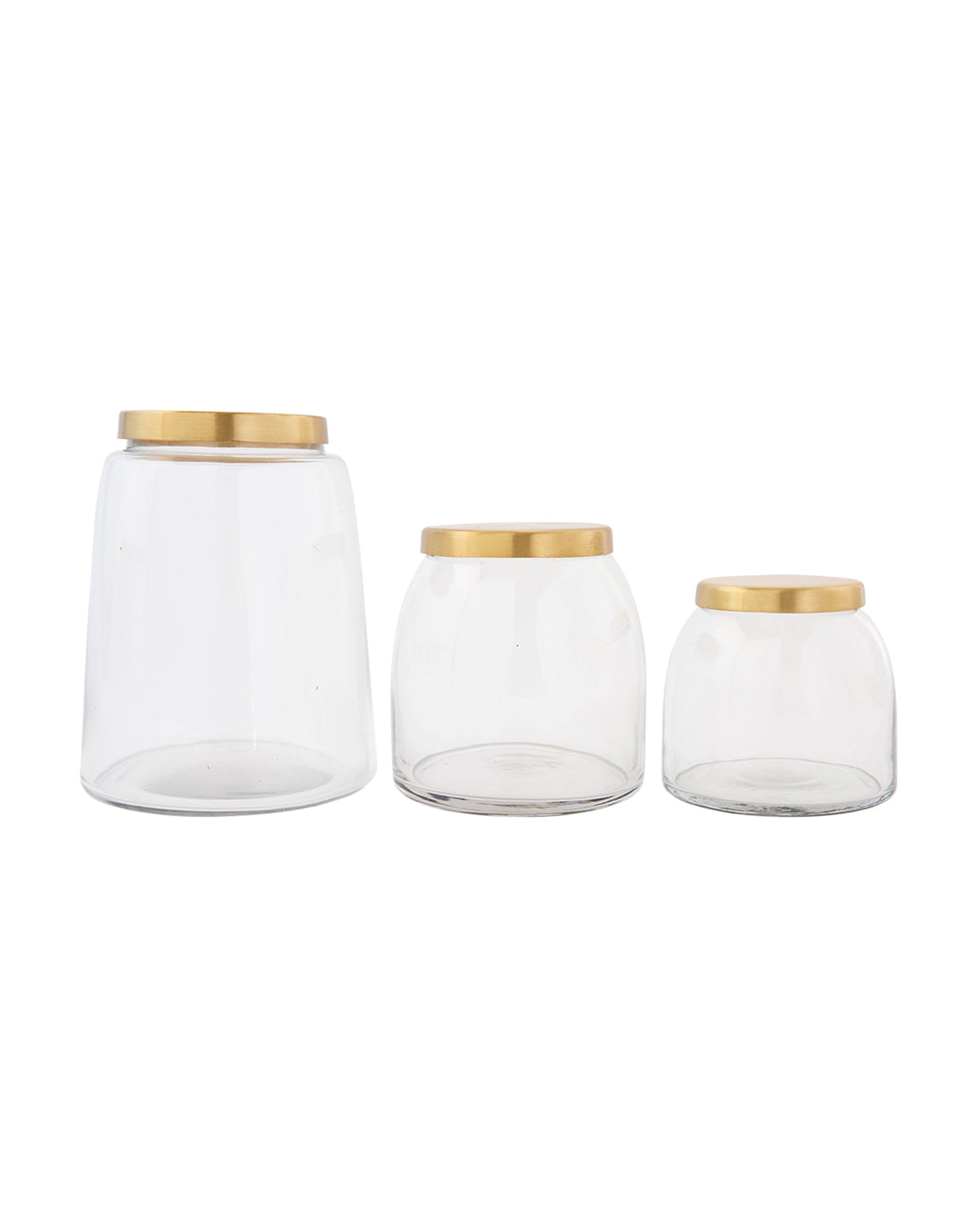 Brass Lidded Jars