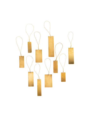 Brass Tab Ornaments (Set of 12)