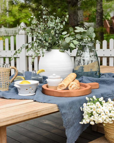Textured Linen Tablecloth