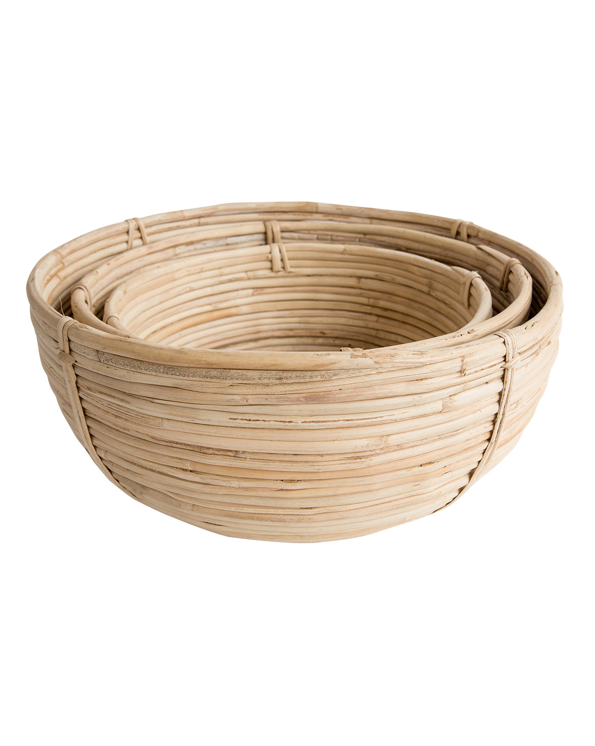 Cane Rattan Circle Baskets