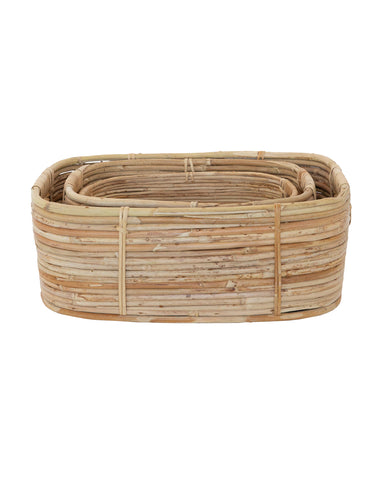 Cane Rattan Rectangle Baskets