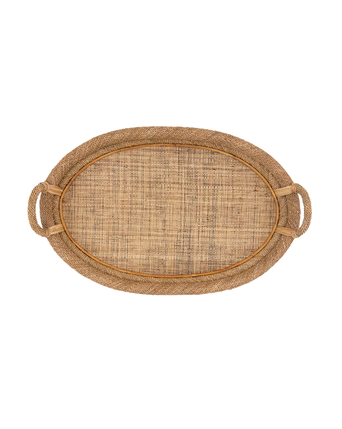 Cane & Rope Oval Tray