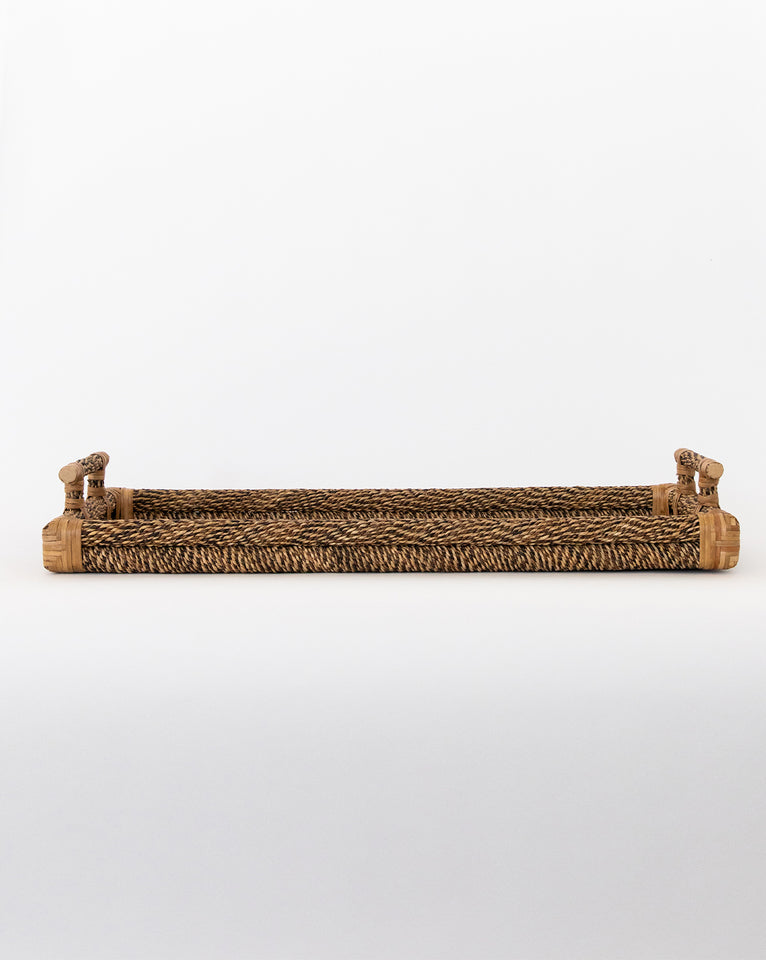 Cane & Rope Rectangle Tray
