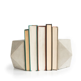 Faceted Concrete Bookends