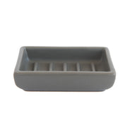 Ceramic Soap Dish in Gray