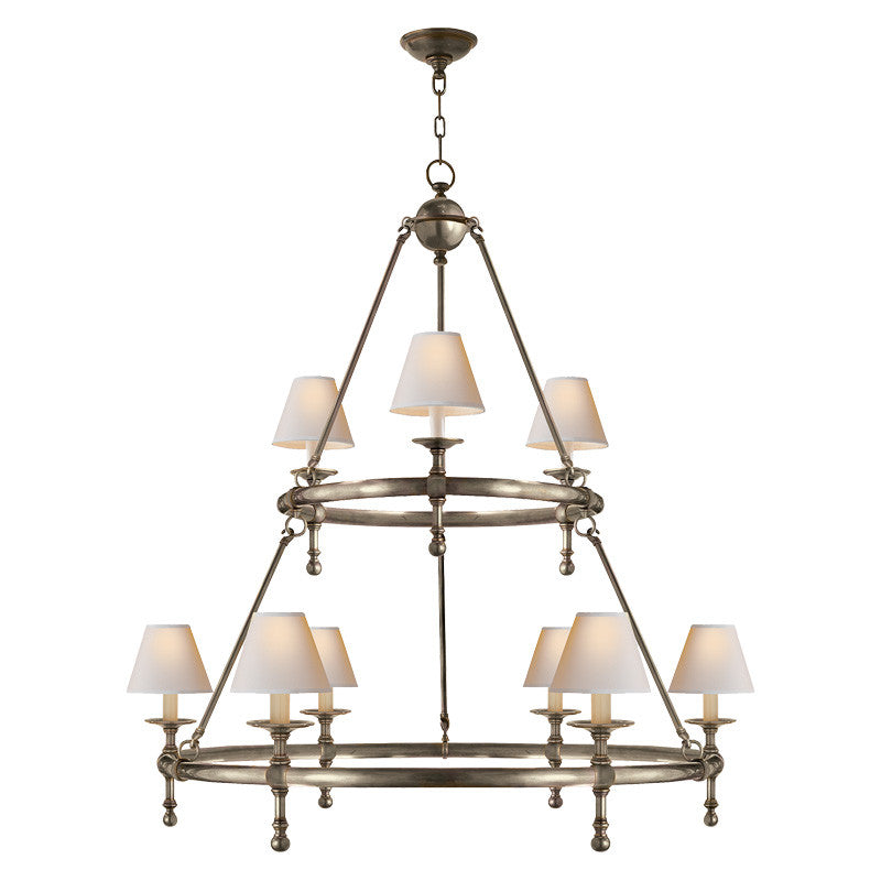 classic two ring chandelier mcgee co
