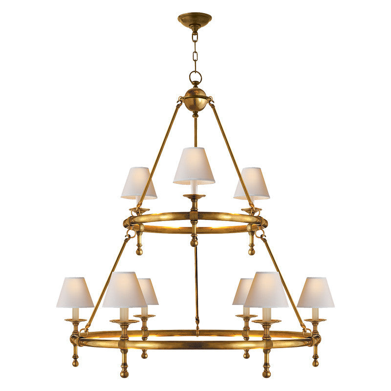 Classic Two-Ring Chandelier
