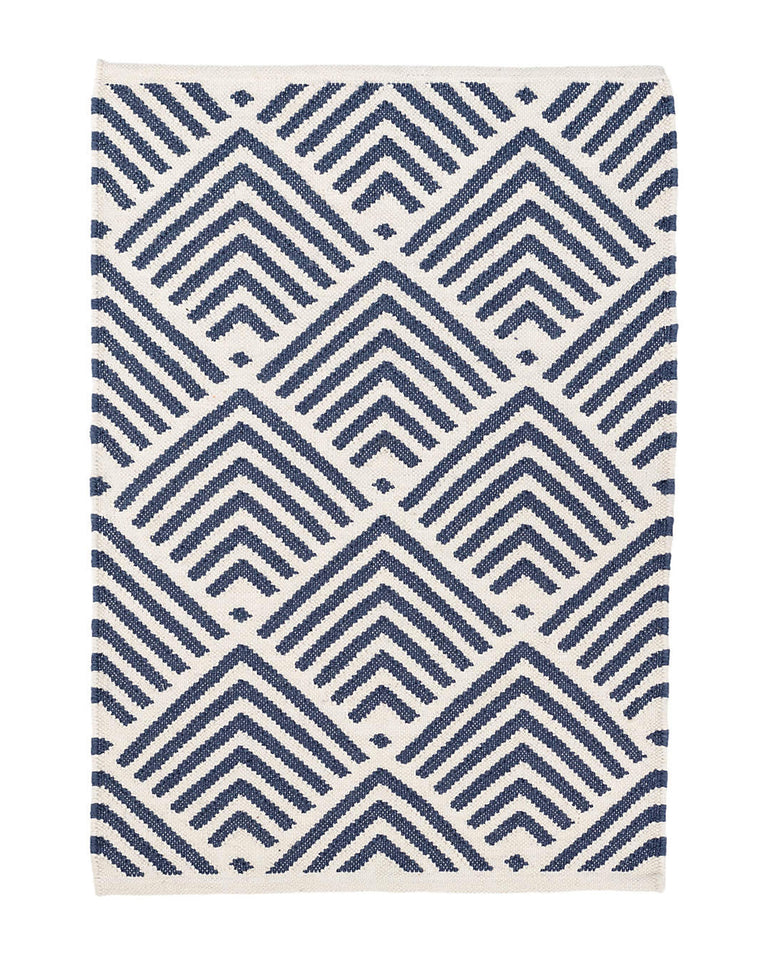 Cleo Navy Indoor / Outdoor Rug Swatch