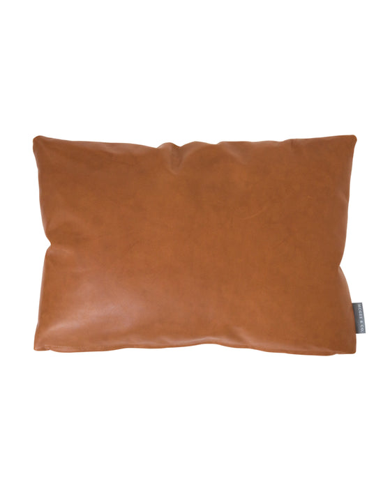 Cognac Leather Pillow Mcgee Co