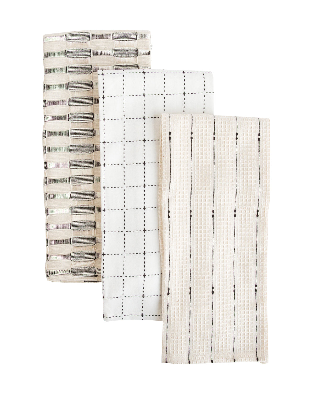 Neutral Cotton Tea Towels (Set of 3)
