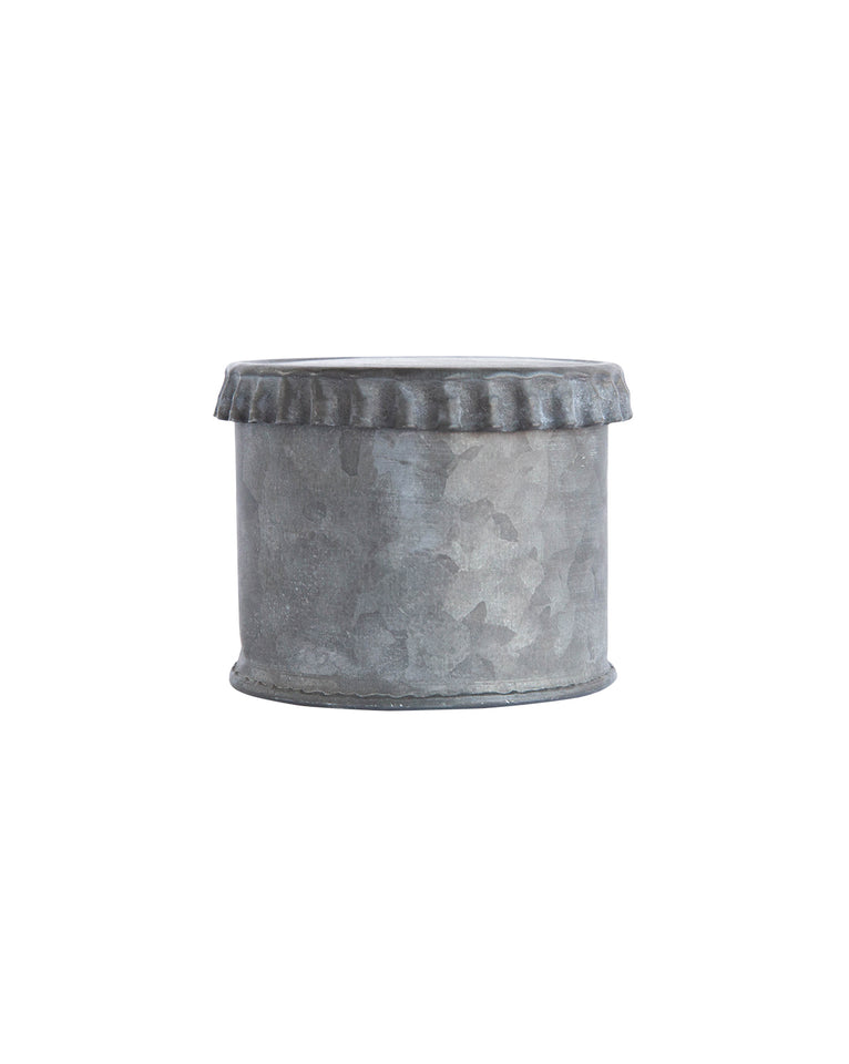 Crimped Edge Tin Cans (Set of 3)
