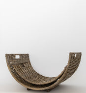 Natural Rattan Log Basket