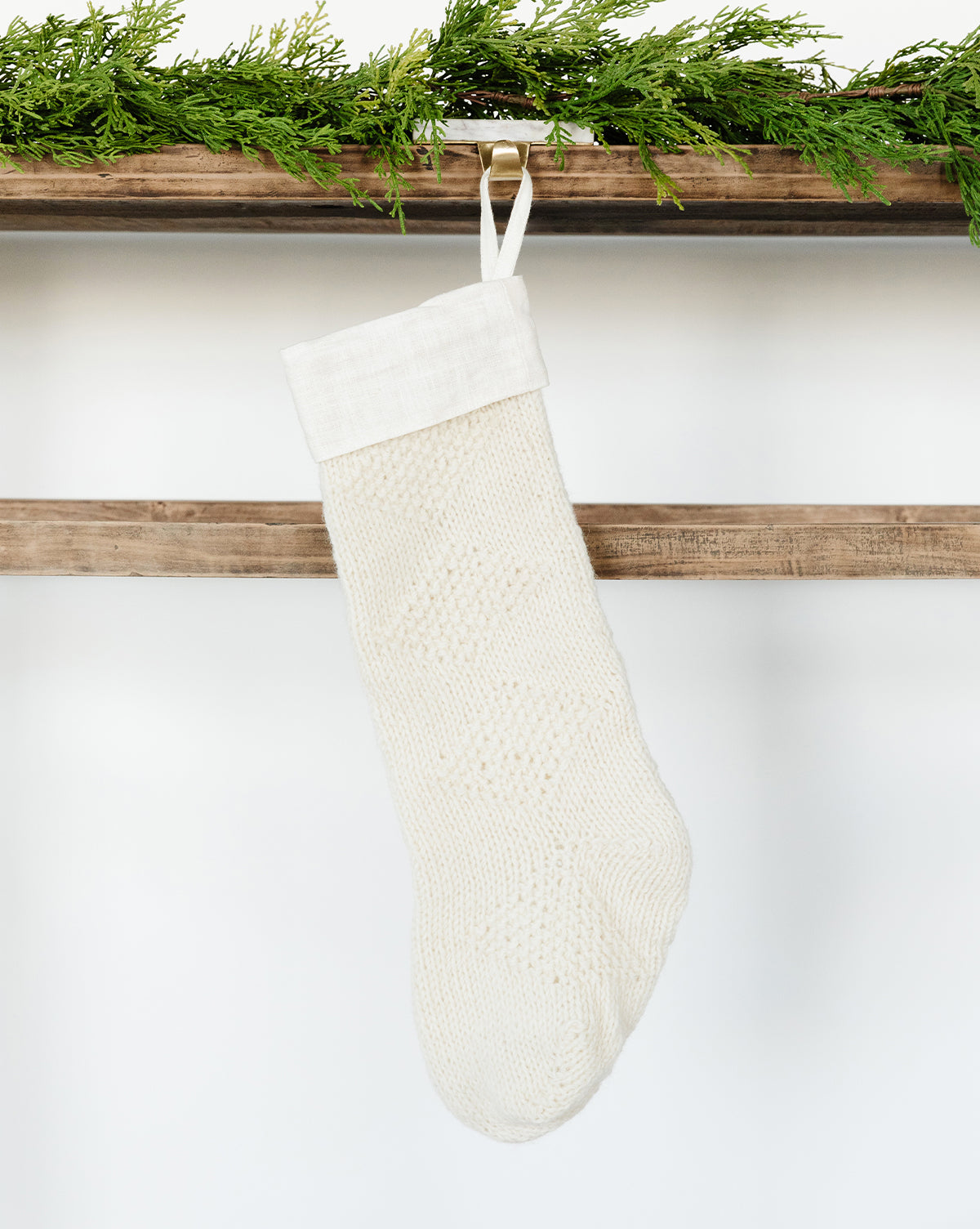 Diamond Knit Stocking