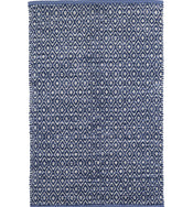 Diamond Chenille Blue Cotton Rug Swatch