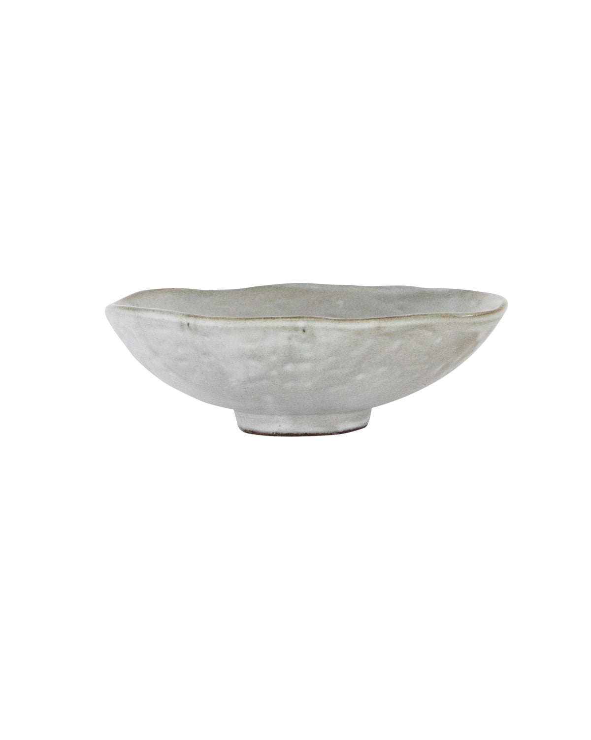 Dimpled Matte Stoneware Bowl