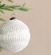 Dipped Cream Mercury Ornament