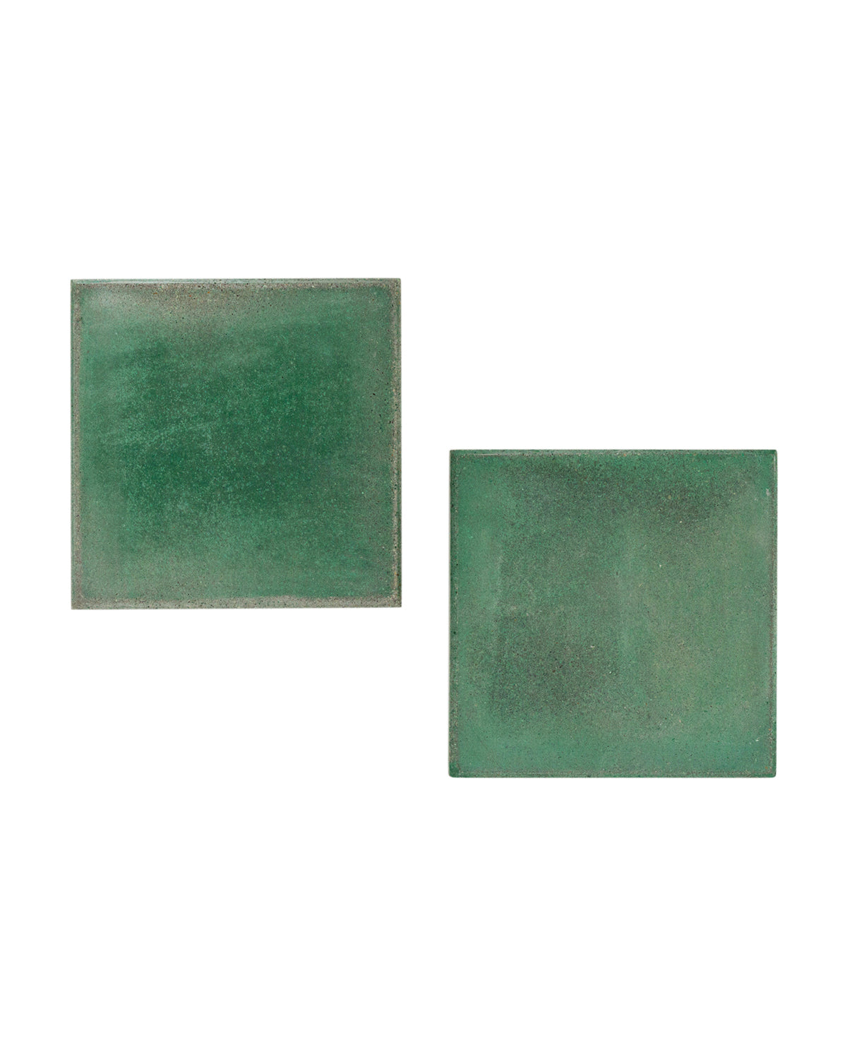 Distressed Green Coasters (Set of 4)