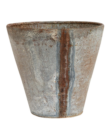 Distressed Zinc Planter