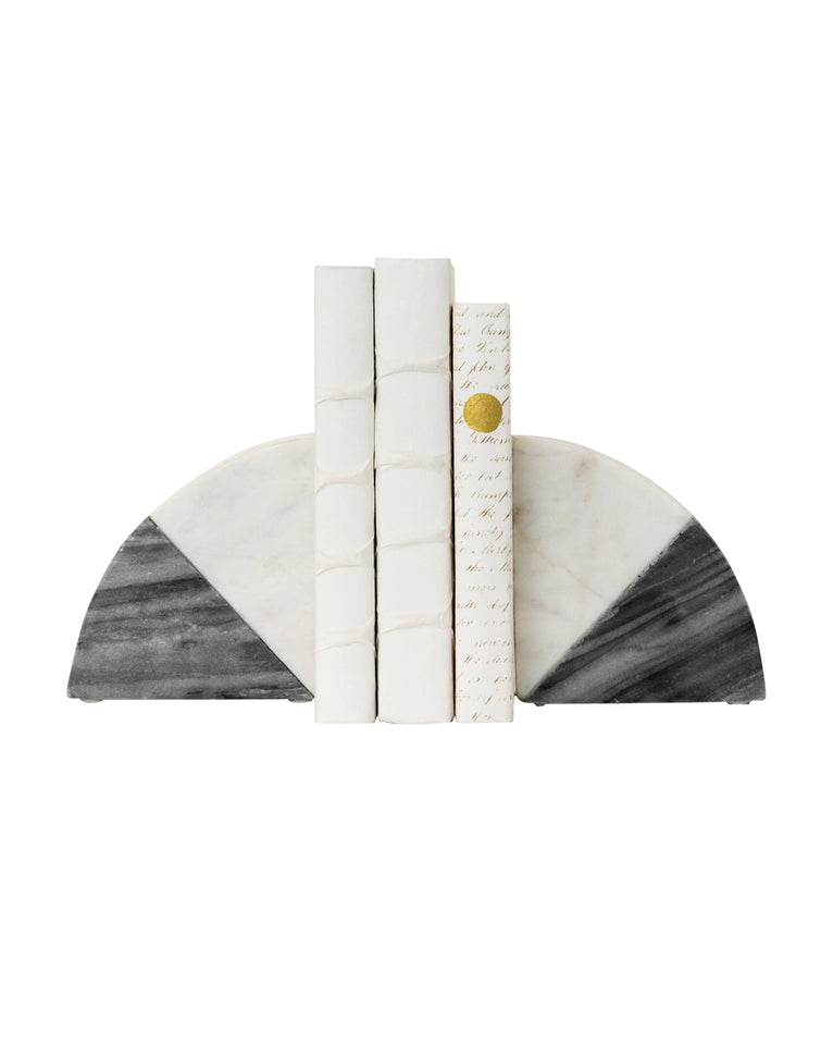Duotone Marble Bookends (Set of 2)