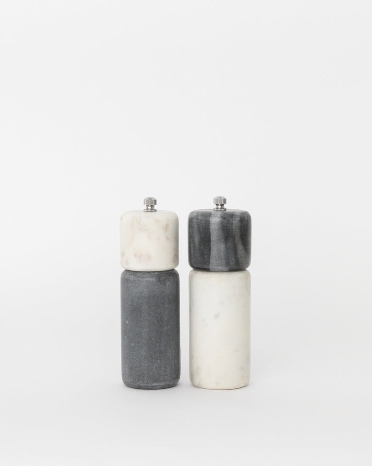 Duotone Marble Pepper Mill