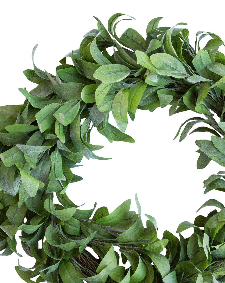 Faux Dusty Laurel Wreath