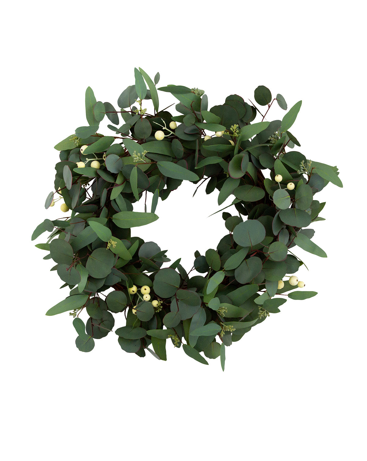 Faux Eucalyptus Berry Wreath