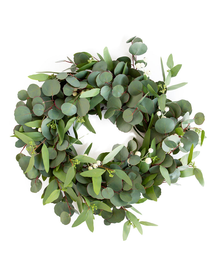 Faux Mixed Eucalyptus Wreath