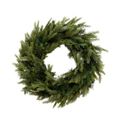 Faux Pine Needle Wreath