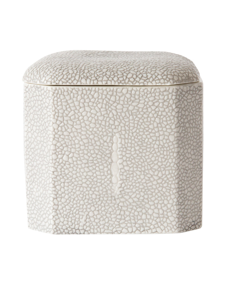 Faux Shagreen Bath Accessories