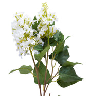 Faux White Lilac Stem