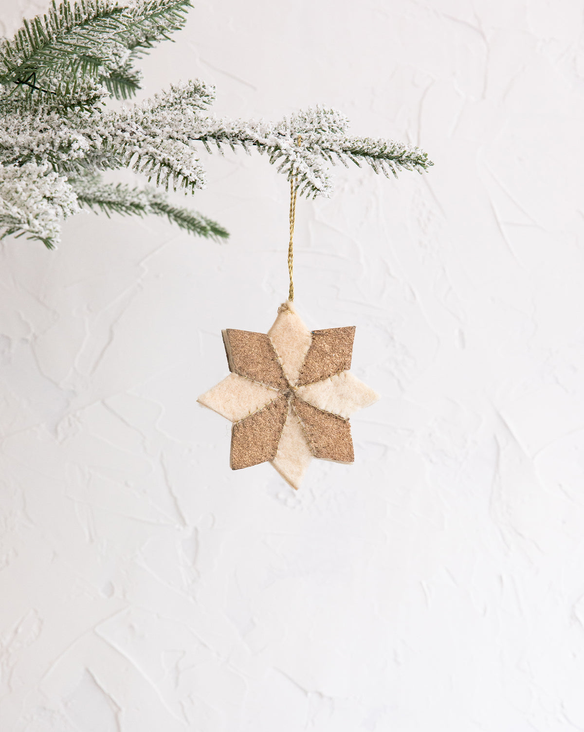 Felt Star Ornaments (Set of 2)