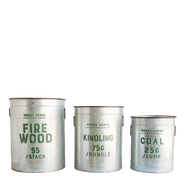 Fireside Buckets, Set of 3