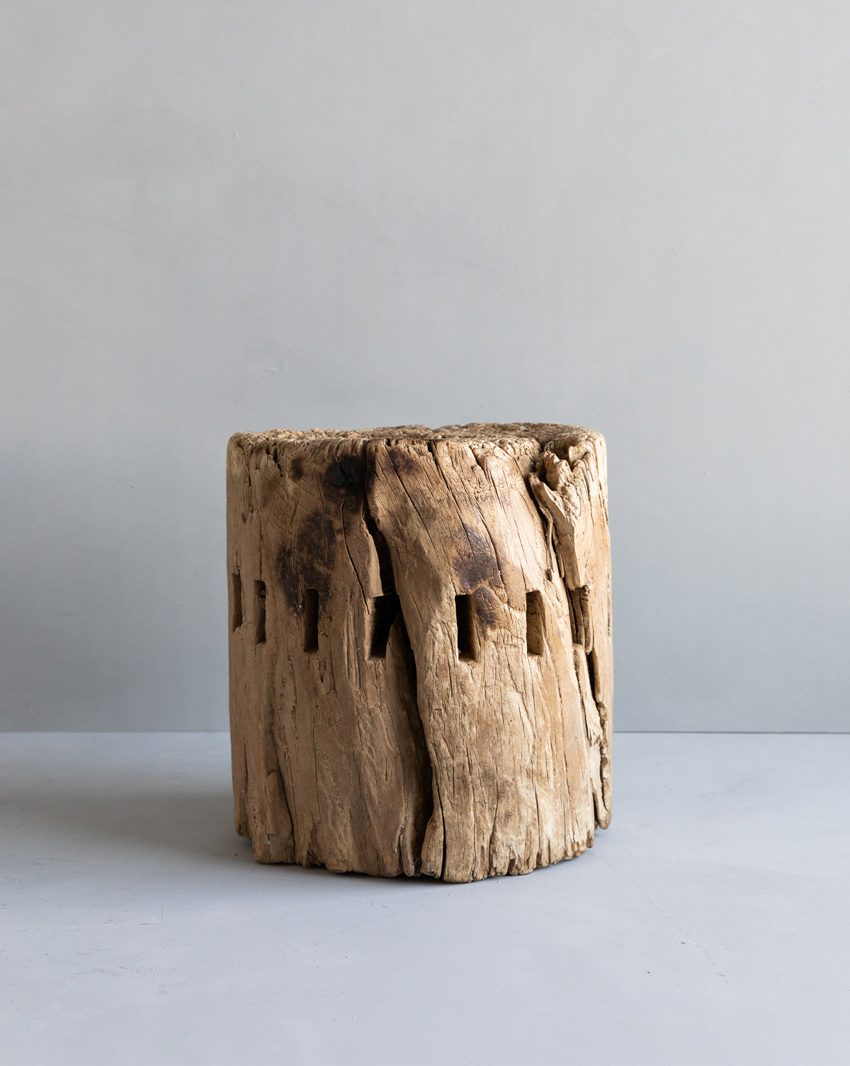 Found Wood Stool