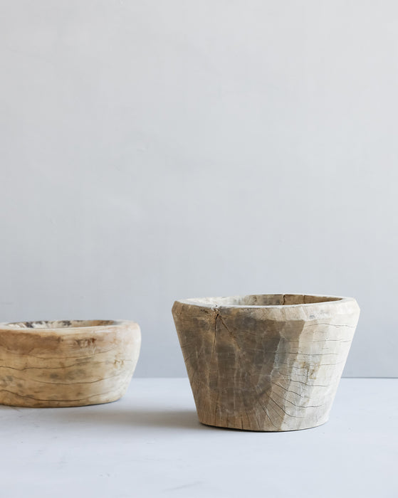 Found Washed Wood Bowls