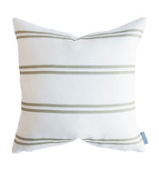 Franklin Olive Stripe Pillow Cover