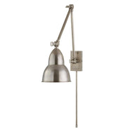 French Library Double Arm Wall Lamp