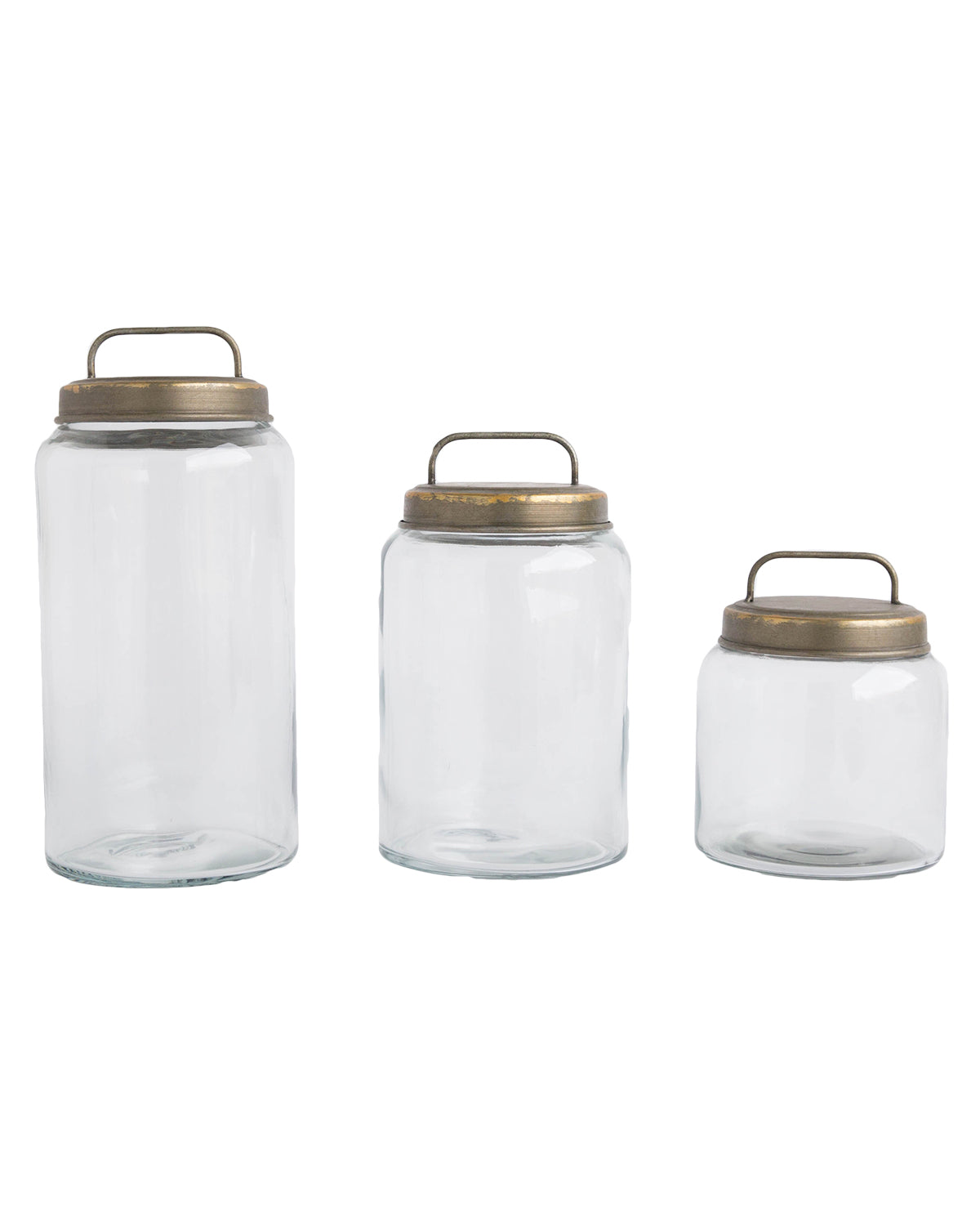 Galvanized Lidded Canisters