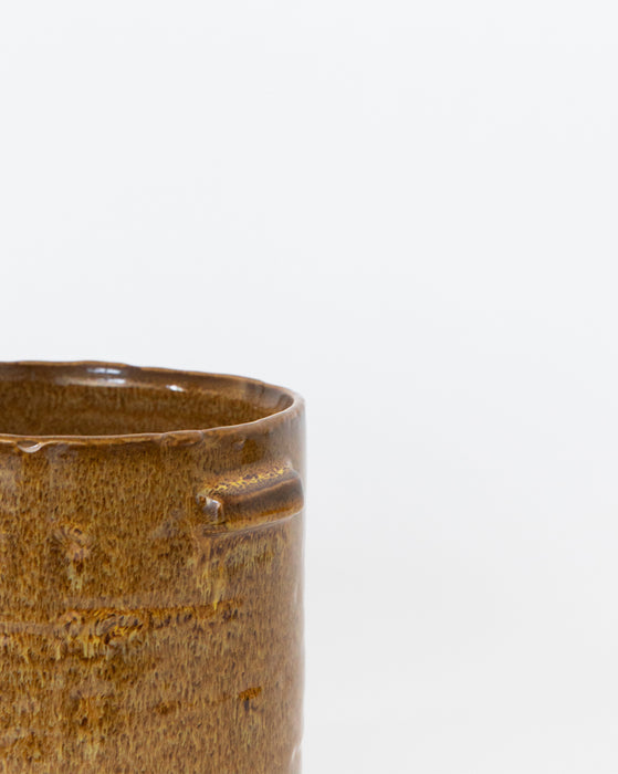 Glazed Cylinder Pot