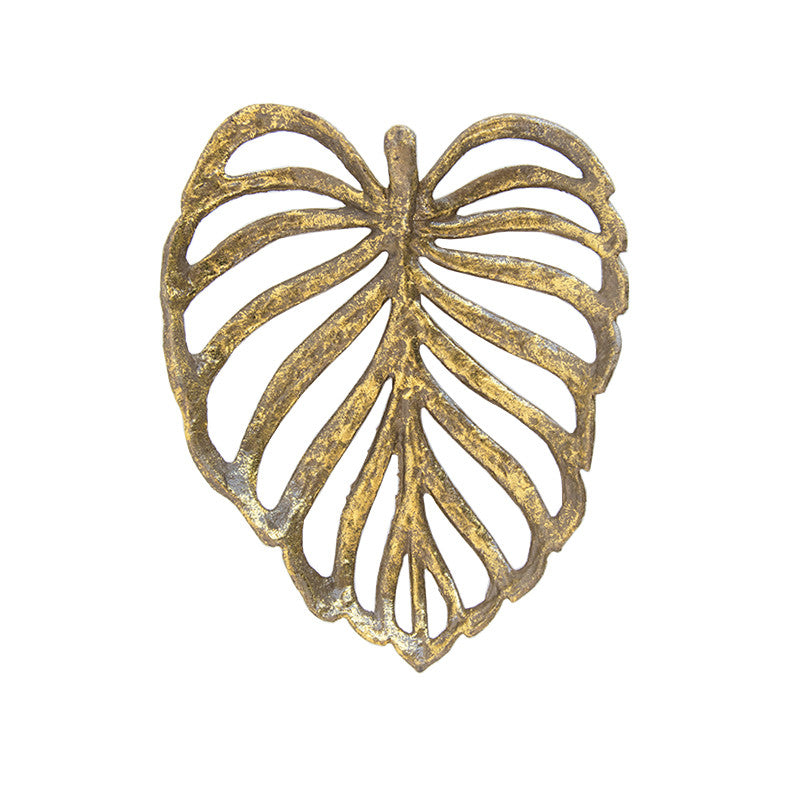 Gold Palm Leaf Object