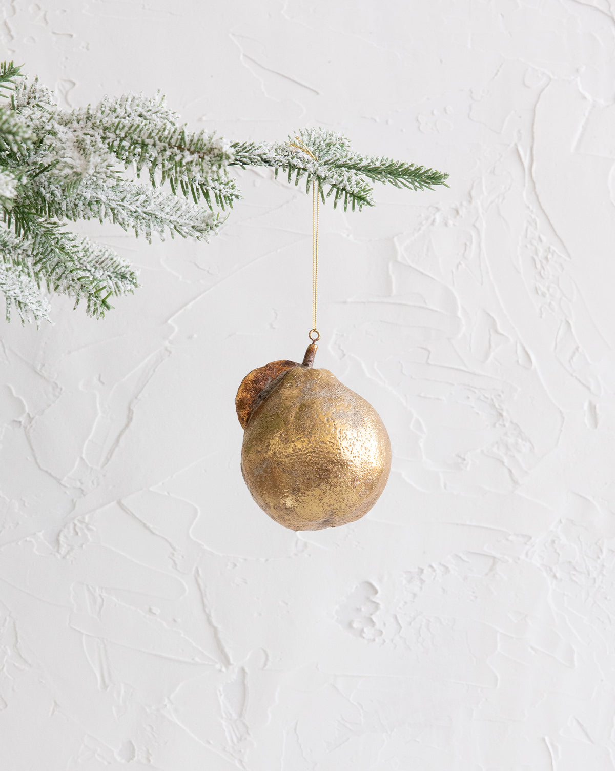 Gold Pear Ornament
