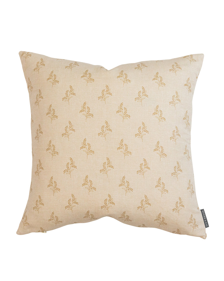 Gracie Block Print Pillow Cover