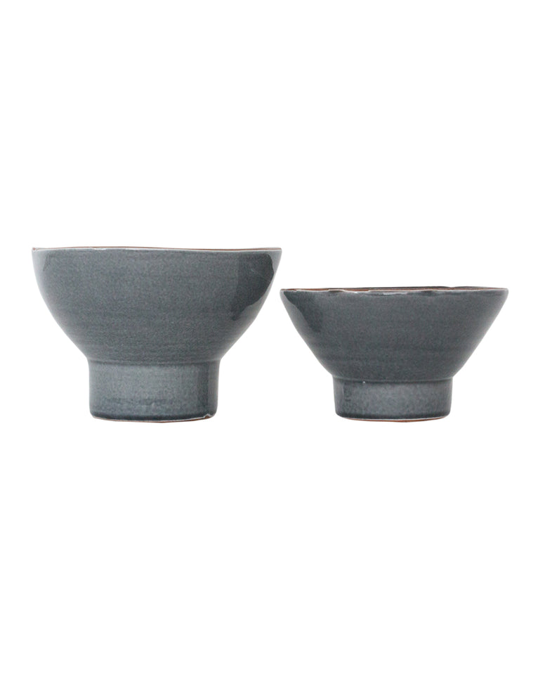 Gray Footed Bowl