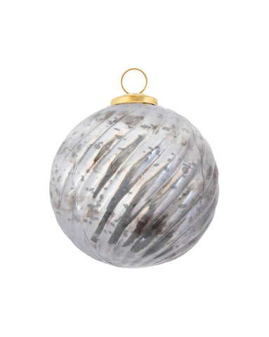 Gray Swirl Ball Ornament