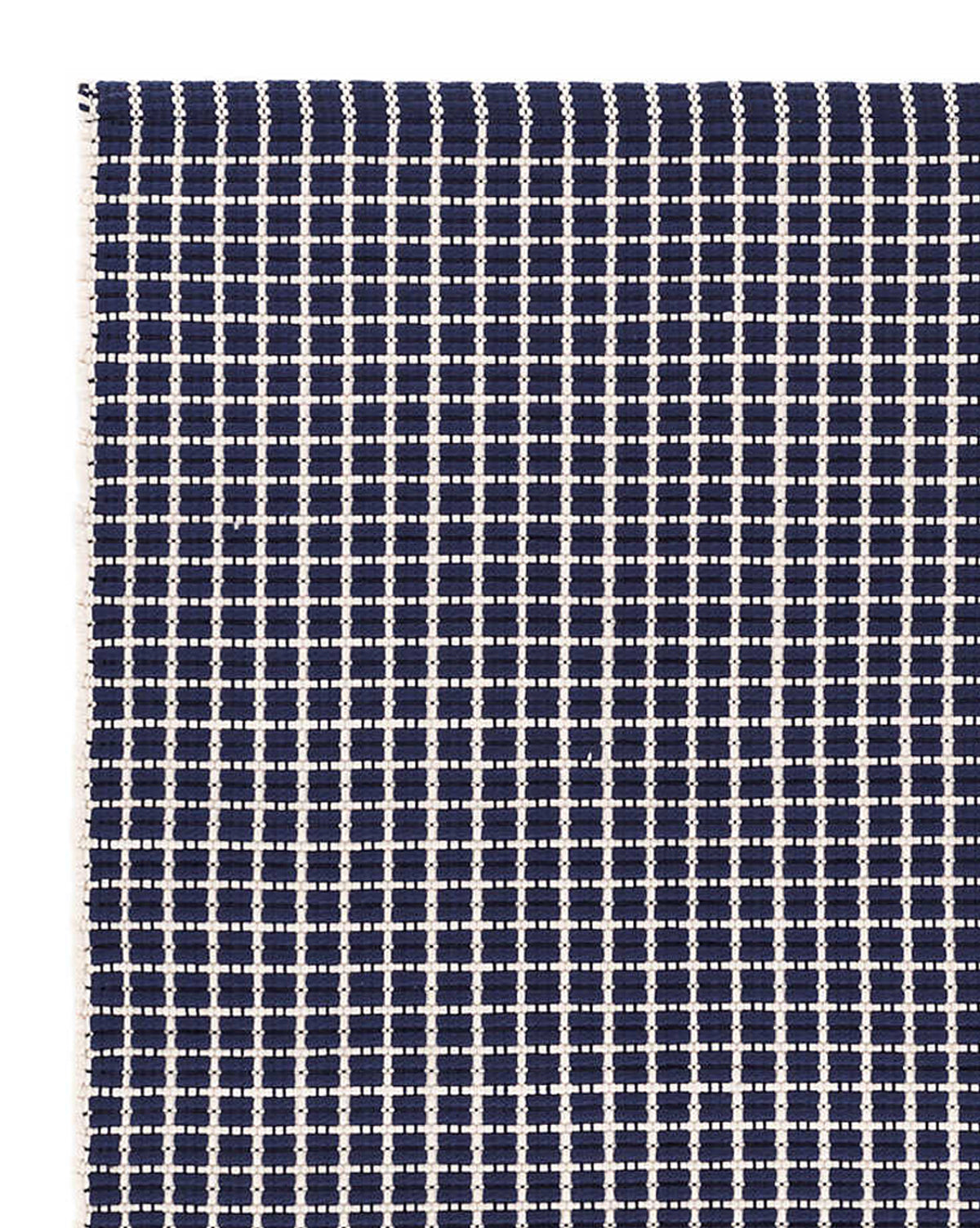 Gridiron Navy Indoor/Outdoor Rug