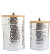 Hammered Canisters (Set of 2)